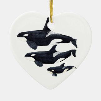 O.orca-fond transparent christmas ornament