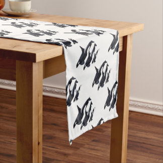 O.orca-fond transparent short table runner