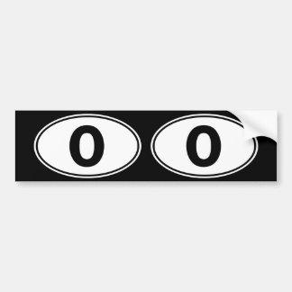 O Oval Identity Sign Bumper Sticker