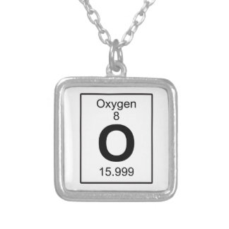 O - Oxygen Silver Plated Necklace