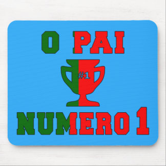 O Pai Número 1 - Number 1 Dad in Portuguese Mouse Pads
