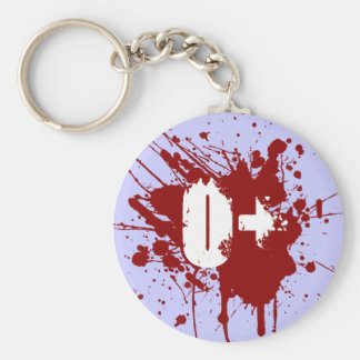 O Positive Blood Type Donation Vampire Zombie Basic Round Button Key Ring