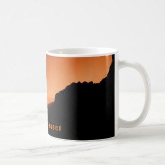 O r a n g e   S u n s e t Basic White Mug