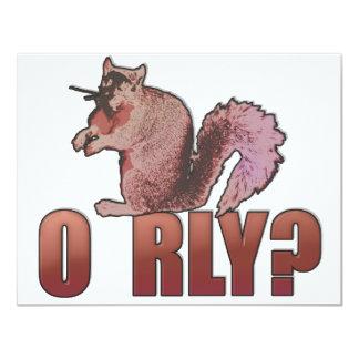 O RLY Squirrel 11 Cm X 14 Cm Invitation Card