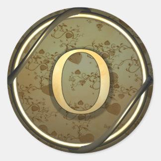 o round sticker