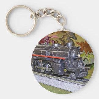 O Scale Model Train Basic Round Button Key Ring