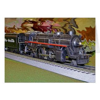 O Scale Model Train Greeting Card