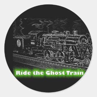 O Scale Model Train - Ride the Ghost Train Classic Round Sticker