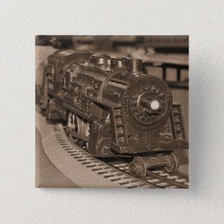 O Scale Model Train - Sepia Tone 15 Cm Square Badge