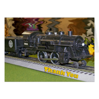 O Scale Model Train - Thank You Card