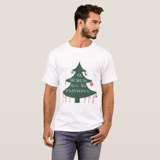 """O Scrum All Ye Faithful"" Holiday T-Shirt"