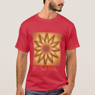 O Sole Mio. Abstract geometric gradient texture. T-Shirt