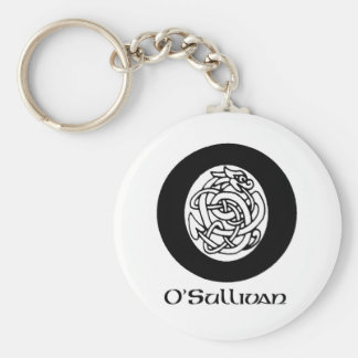 O' Sullivan Surname Basic Round Button Key Ring