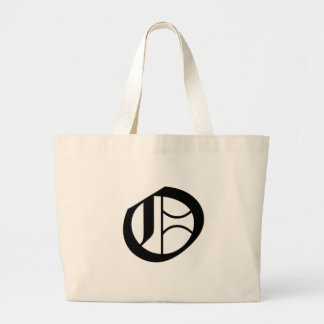 O-text Old English Large Tote Bag