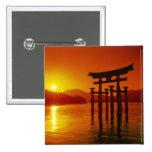 O-Torii Gate, Itsukushima shrine, Miyajima, 15 Cm Square Badge