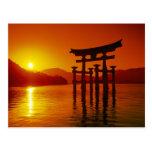O-Torii Gate, Itsukushima shrine, Miyajima, Postcard