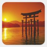 O-Torii Gate, Itsukushima shrine, Miyajima, Square Sticker