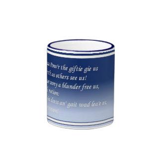O Wad Some Pow'r The Giftie Gie Us Ringer Mug
