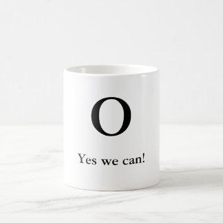 O, Yes we can! Basic White Mug