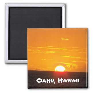 Oahu, Hawaii Square Magnet
