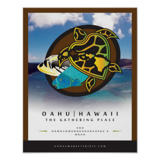 Oahu Hawaii - The Gathering Place 4 Poster