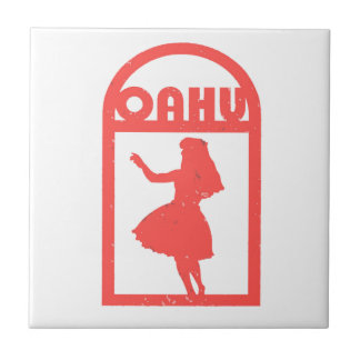 Oahu Hula Dancer Tile