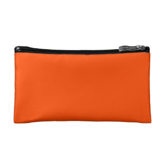 Oahu Orange Hibiscus Hawaiian Sunset Makeup Bag
