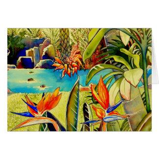 Oahu Pineapple Plantation Pond Card