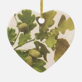 Oak 1907 ceramic heart decoration