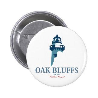 Oak Bluffs - Massachusetts. 6 Cm Round Badge