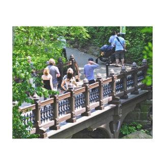 Oak Bridge at Bank Rock Bay, Central Park Canvas Prints