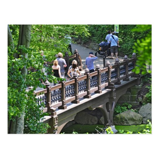 Oak Bridge at Bank Rock Bay, Central Park Postcards