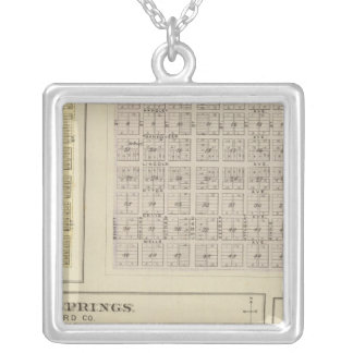 Oak City, Shockeyville, Cale, Kansas Silver Plated Necklace