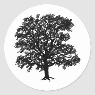 Oak Classic Round Sticker