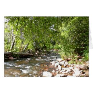 Oak Creek II in Sedona Arizona Nature Photography Card