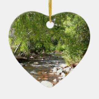 Oak Creek II in Sedona Arizona Nature Photography Christmas Ornament