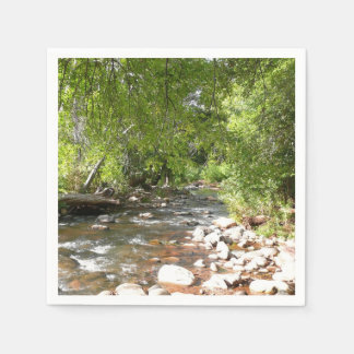 Oak Creek II in Sedona Arizona Nature Photography Disposable Napkins