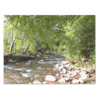 Oak Creek II in Sedona Arizona Nature Photography Tissue Paper