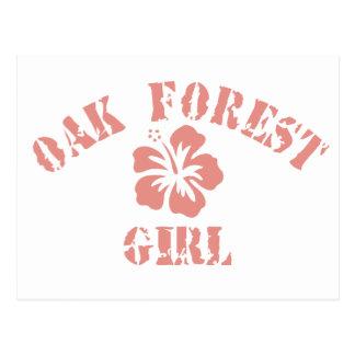 Oak Forest Pink Girl Postcard