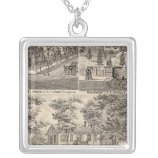Oak Grove Farm residence of George Nebeker Silver Plated Necklace