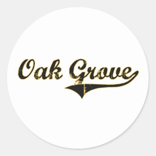 Oak Grove Missouri Classic Design Round Stickers