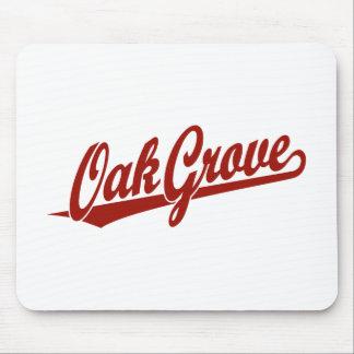 Oak Grove script logo in red Mouse Pad