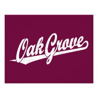 Oak Grove script logo in white distressed 21.5 Cm X 28 Cm Flyer