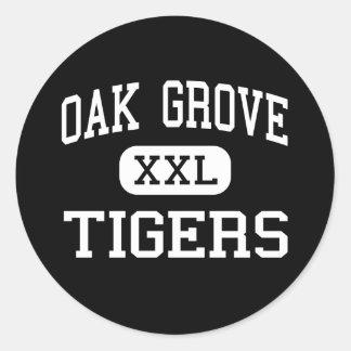 Oak Grove - Tigers - High - Oak Grove Louisiana Round Sticker