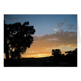 Oak in the Sunset Card