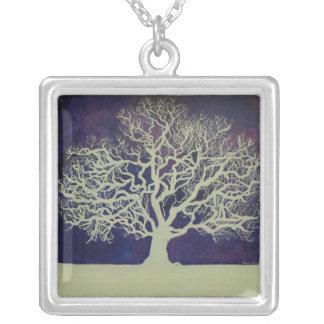 Oak In Winter Silver Plated Necklace