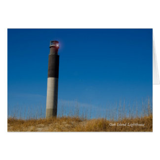 Oak Island Lighthouse Card