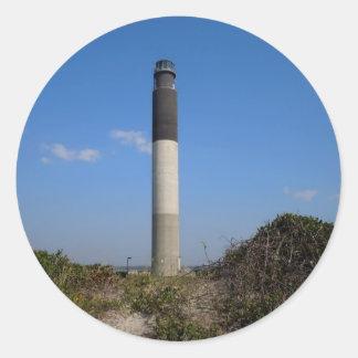 Oak Island Lighthouse, North Carolina Classic Round Sticker