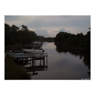 Oak Island, North Carolina - Early Morning  Poster