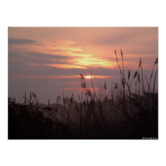 Oak Island, North Carolina - Sunrise Poster